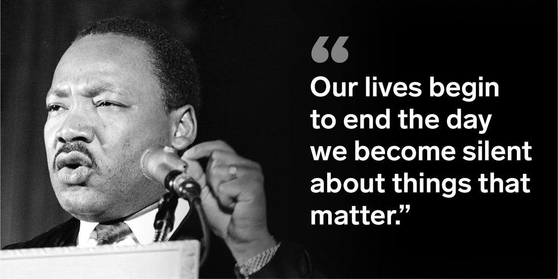 Martin Luther King's famous quote on life